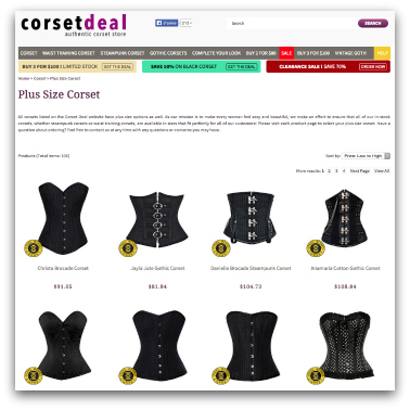 corset taille forte